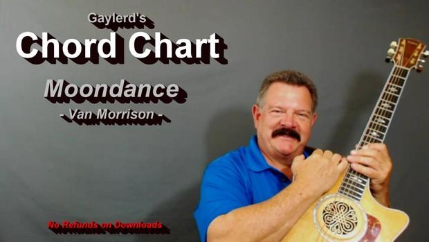 Moondance  by Van Morrison - Chord Chart