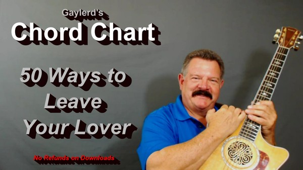 50 ways to Leave Your Lover  - CHORD CHART