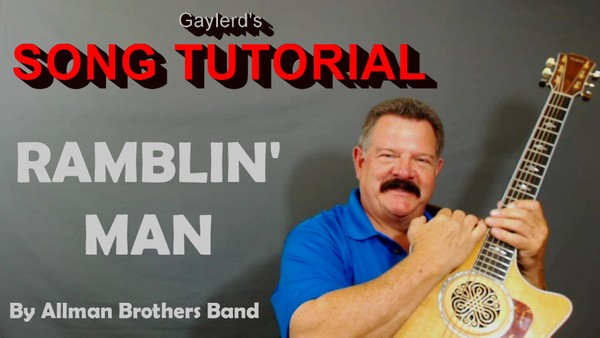 Rambln' Man by Allman Bros Band - Song Tutorial