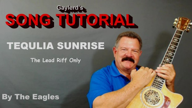 Tequila Sunrise Lead Riff Song Tutorial