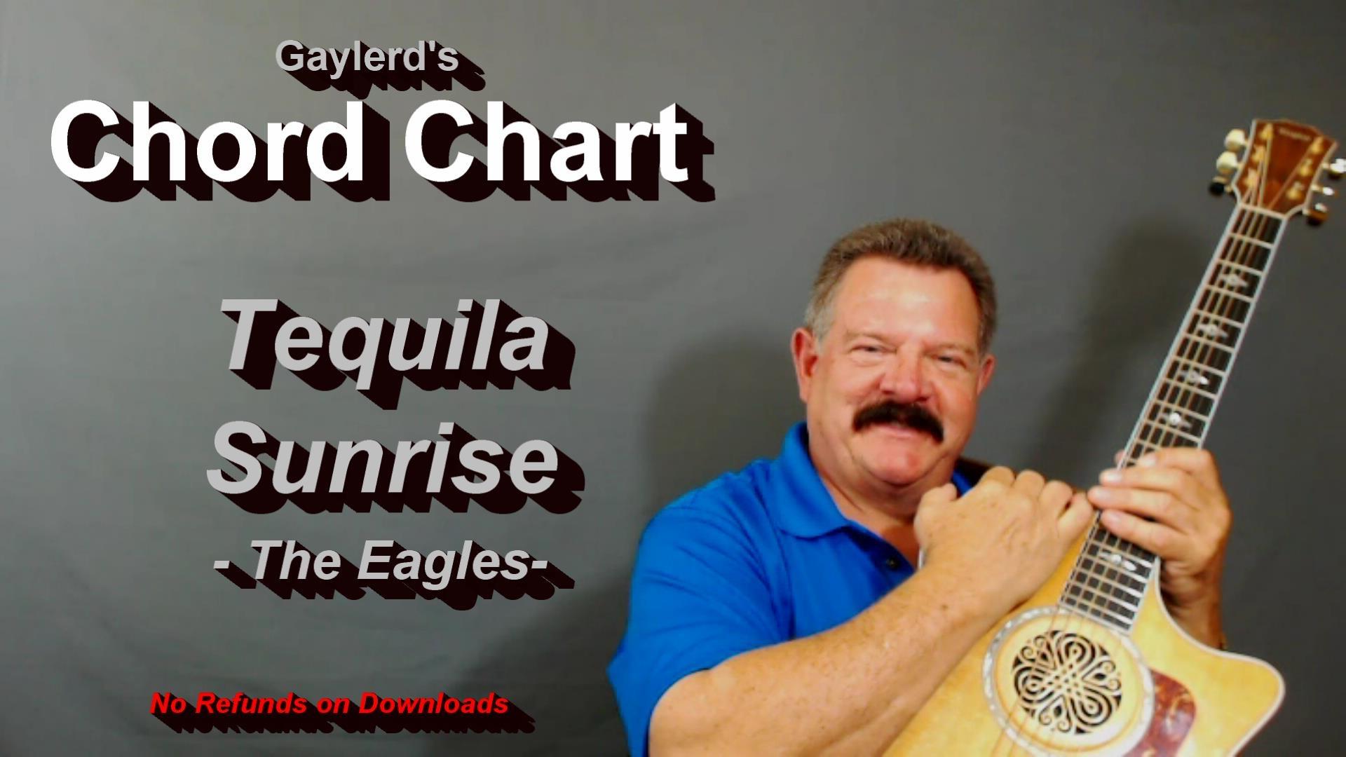Tequila Sunrise   Chord Chart   GaylerdGUITAR