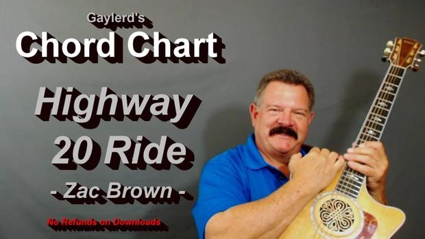 Highway 20 Ride  CHORD CHART