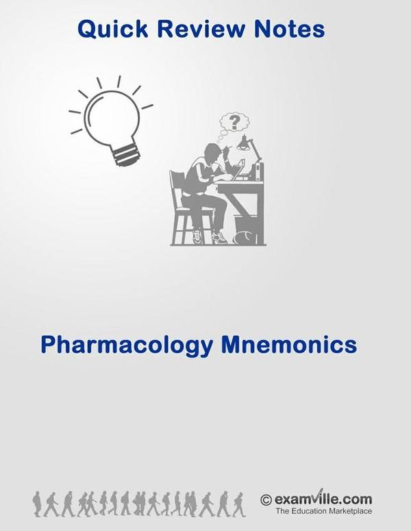 Pharmacology Mnemonics