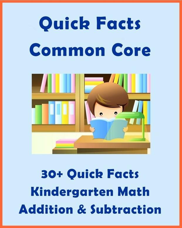 30+ Quick Facts: Common Core Kindergarten Math
