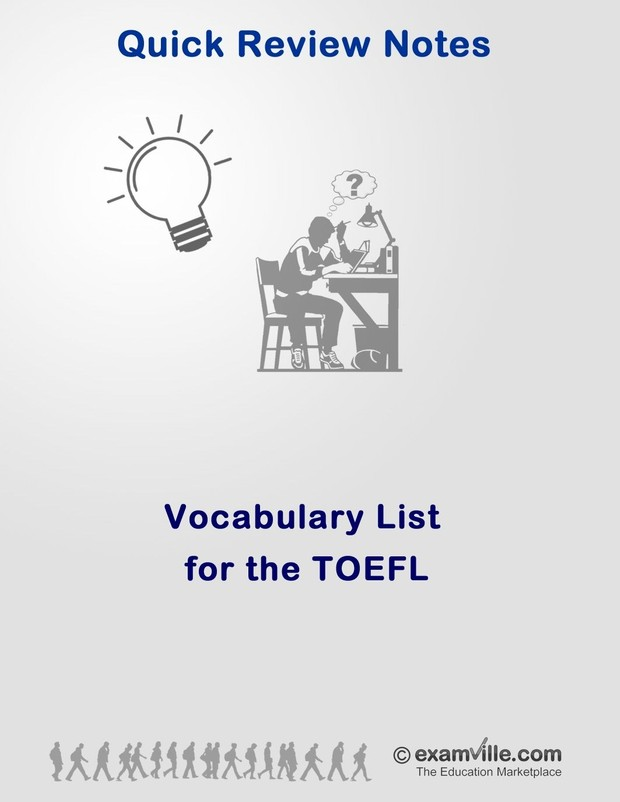 Vocabulary Word List for the TOEFL