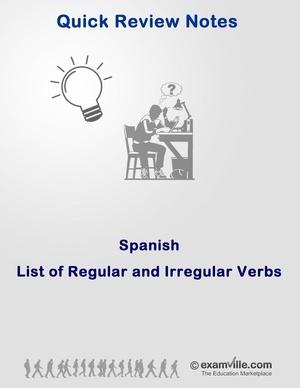 Quick Spanish Review: Regular and Irregular Verbs