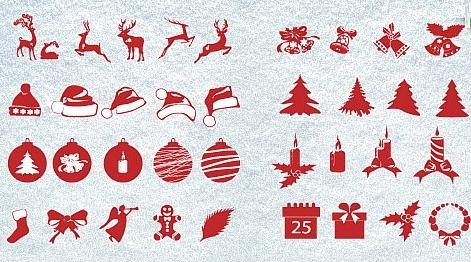 Icon Collection:  100+ Christmas Silhouettes