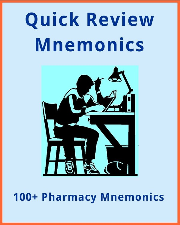 100+ Pharmacy Mnemonics for Health Professionals & Students