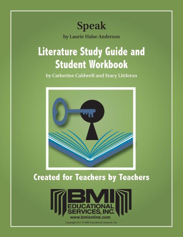 Speak: Study Guide and Student Workbook (Enhanced ebook)