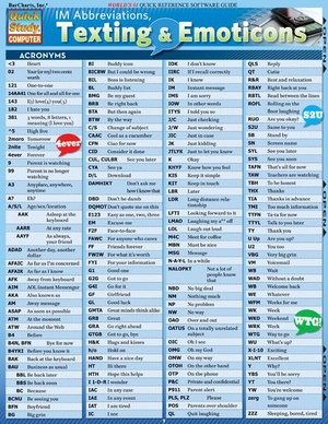 Im Abbreviations Texting & Emoticons