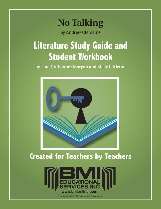 Andrew Clement's NO TALKING Literature Study Guide and Workbook