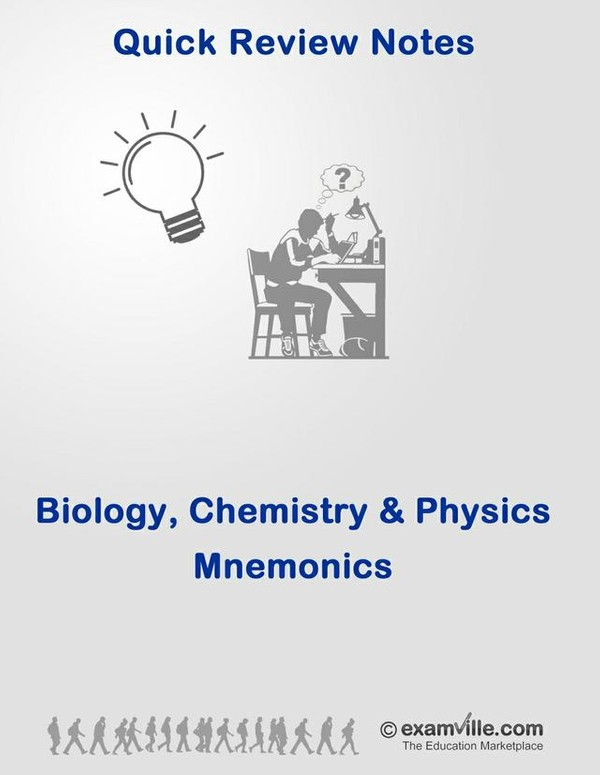 Biology, Chemistry and Physics Mnemonics for High School and College Students