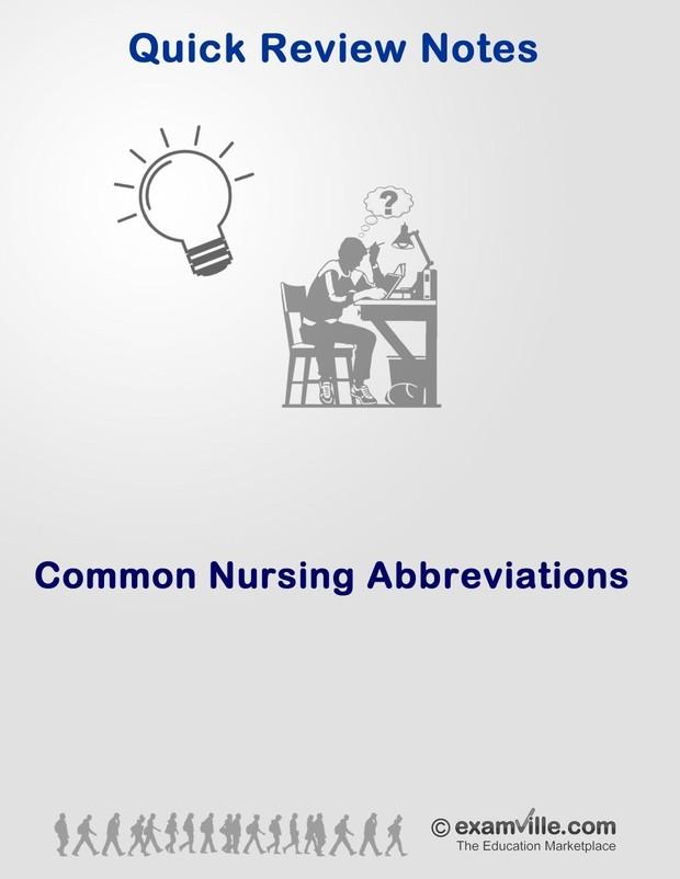Common Nursing Abbreviations