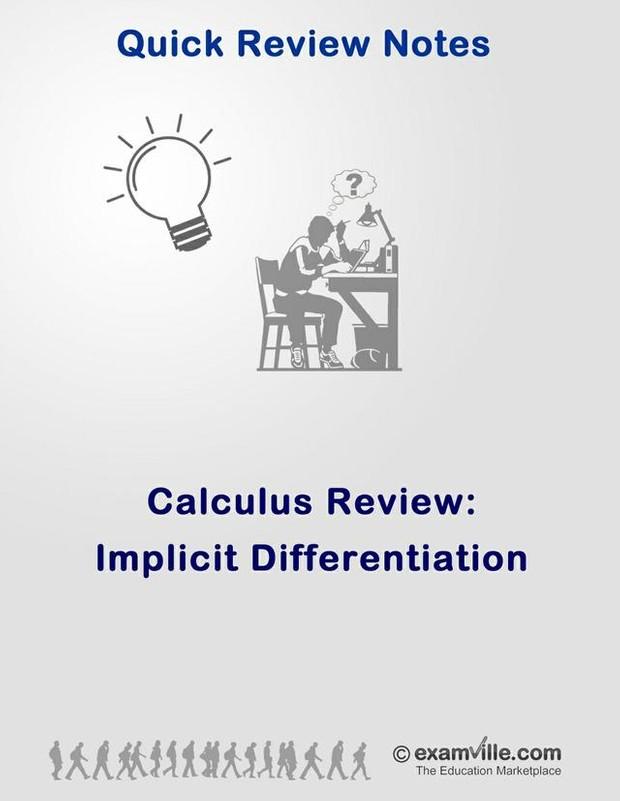 Calculus Review - Implicit Differentiation