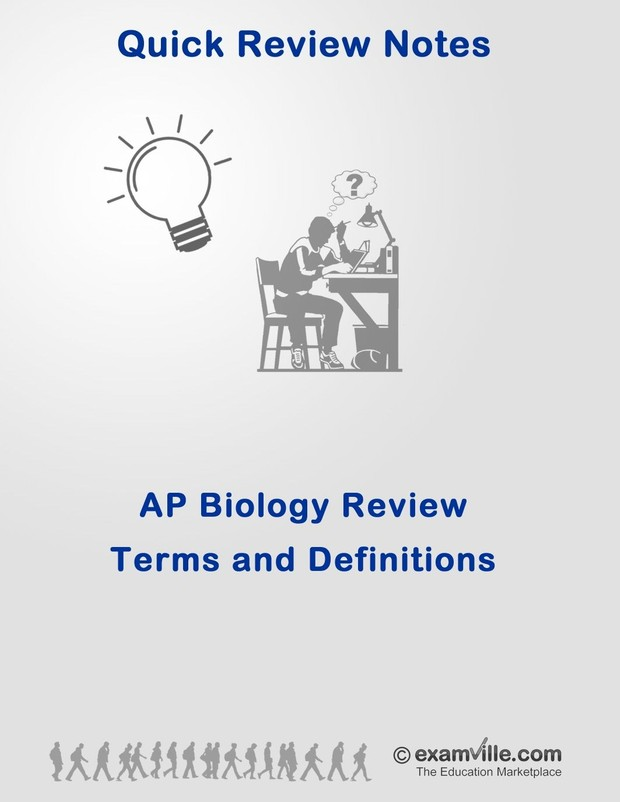 AP Biology Review  Terms and Definitions