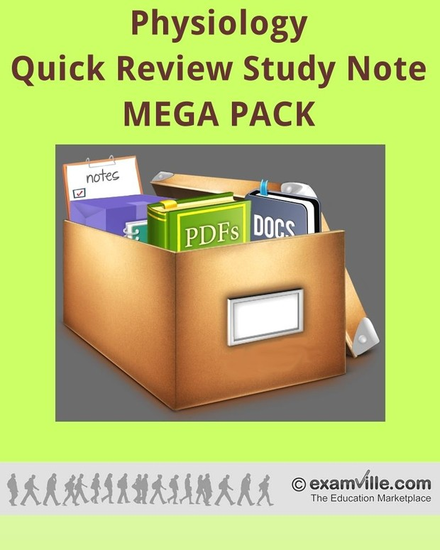 Physiology Quick Review Study Notes - Mega Pack