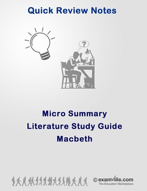 Literature Micro Summary - Macbeth