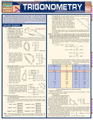 Trigonometry Quick Study Review Guide