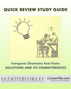Inorganic Chemistry Fast Facts: Solutions