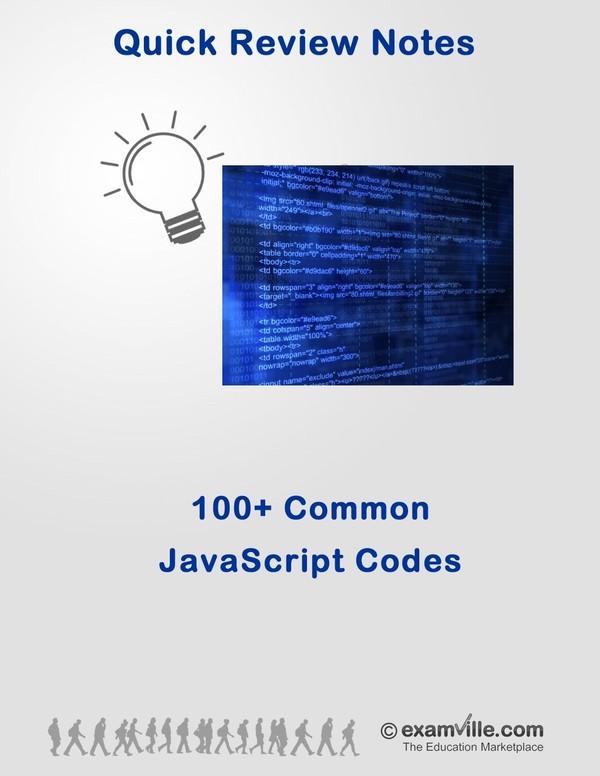 100+ Common JavaScript Codes