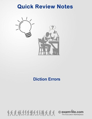 English Grammar Review - Diction Errors