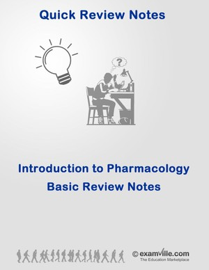 Introduction to Pharmacology Quick Review Notes