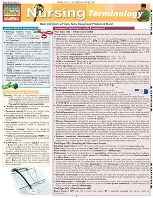 Nursing Terminologies for Nurses and Nursing Students