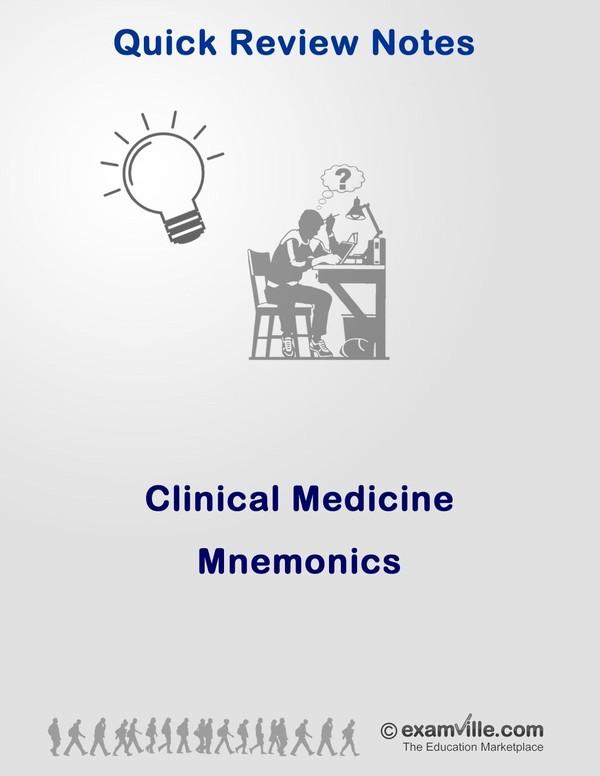 Clinical Medicine Mnemonics