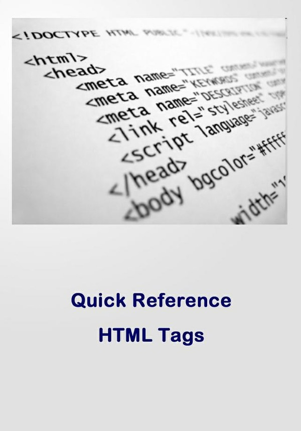 Quick Reference: HTML Tags