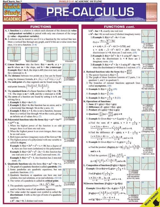 Pre Calculus Examville
