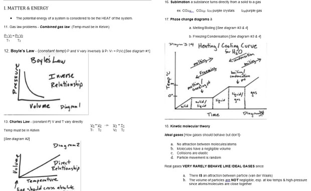 NY State Regents Chemistry Quick Review and Handout