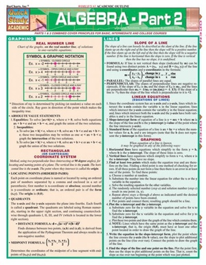 Algebra Quick Review Study Guide - Part 2