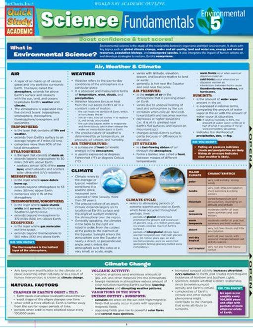 Science Fundamentals 5 Environmental Science