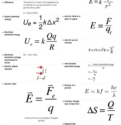 150+ Quick Review Physics Facts, Formulas & Concepts (Handout)