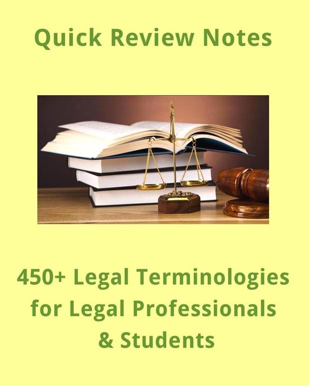 450+ Legal Terminologies for Professionals, Paralegals & Students