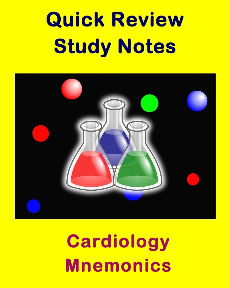 Cardiology Mnemonics (Quick Review Notes)