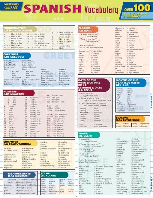 Spanish Vocabulary Quizzer