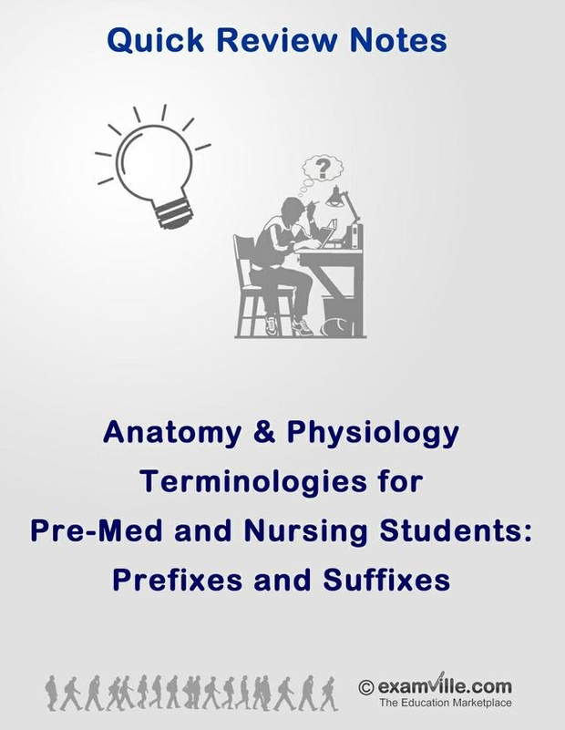 Human Anatomy & Physiology - Suffixes and Prefixes