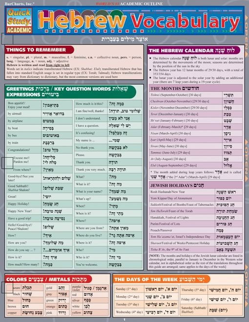 Hebrew Vocabulary