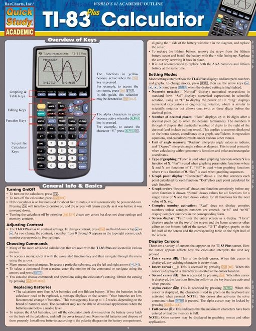 Ti-83 Plus Calculator