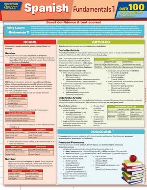 Spanish Fundamentals 1 Quizzer