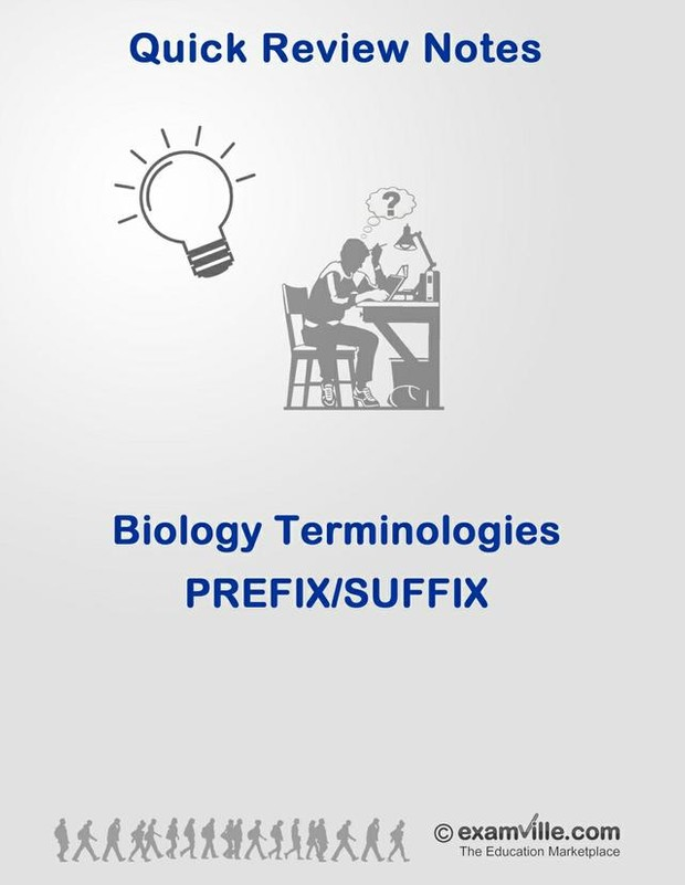 Biology Terminologies - Prefic and Suffix