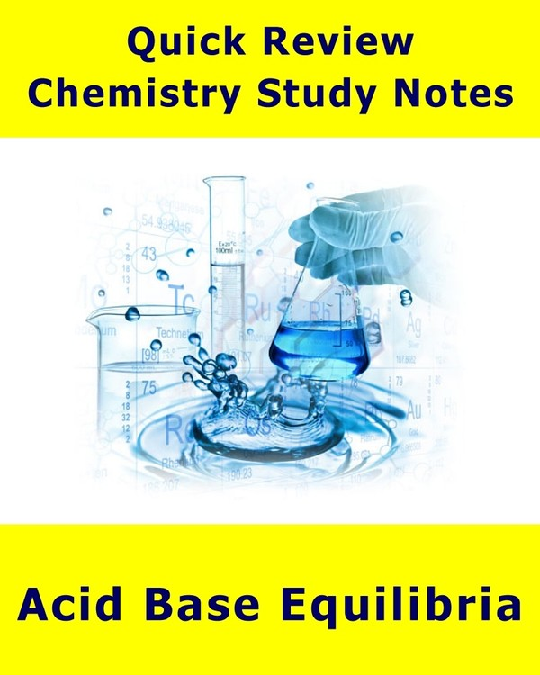 Acid-Base Equilibria - Quick Review Outline and Handout
