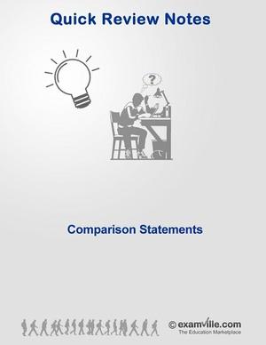 English Grammar Review - Comparison Statements