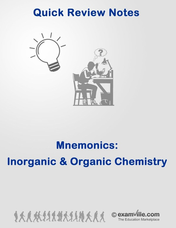 Mnemonics for Inorganic and Organic Chemistry Students