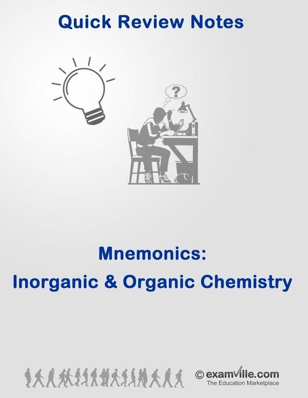 Mnemonics for Inorganic and Organic Chemistry Students