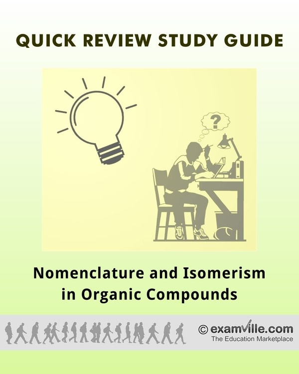 Nomenclature and Isomerism in Organic Compounds (Organic Chemistry Review)