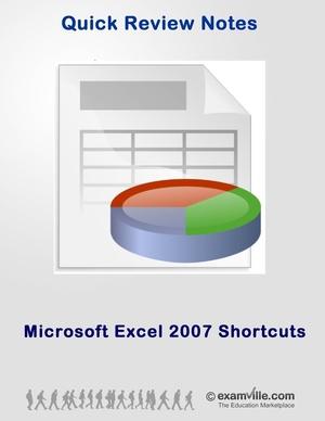 Microsoft Excel 2007 Short Cut Keys