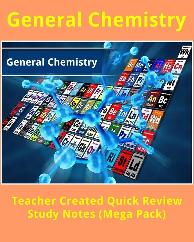 General Chemistry Teacher Created Study Notes Mega Pack (720 Pages)