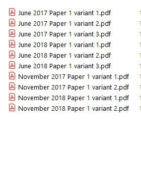 16 PDF files of solutions on past year MCQs from CIE C